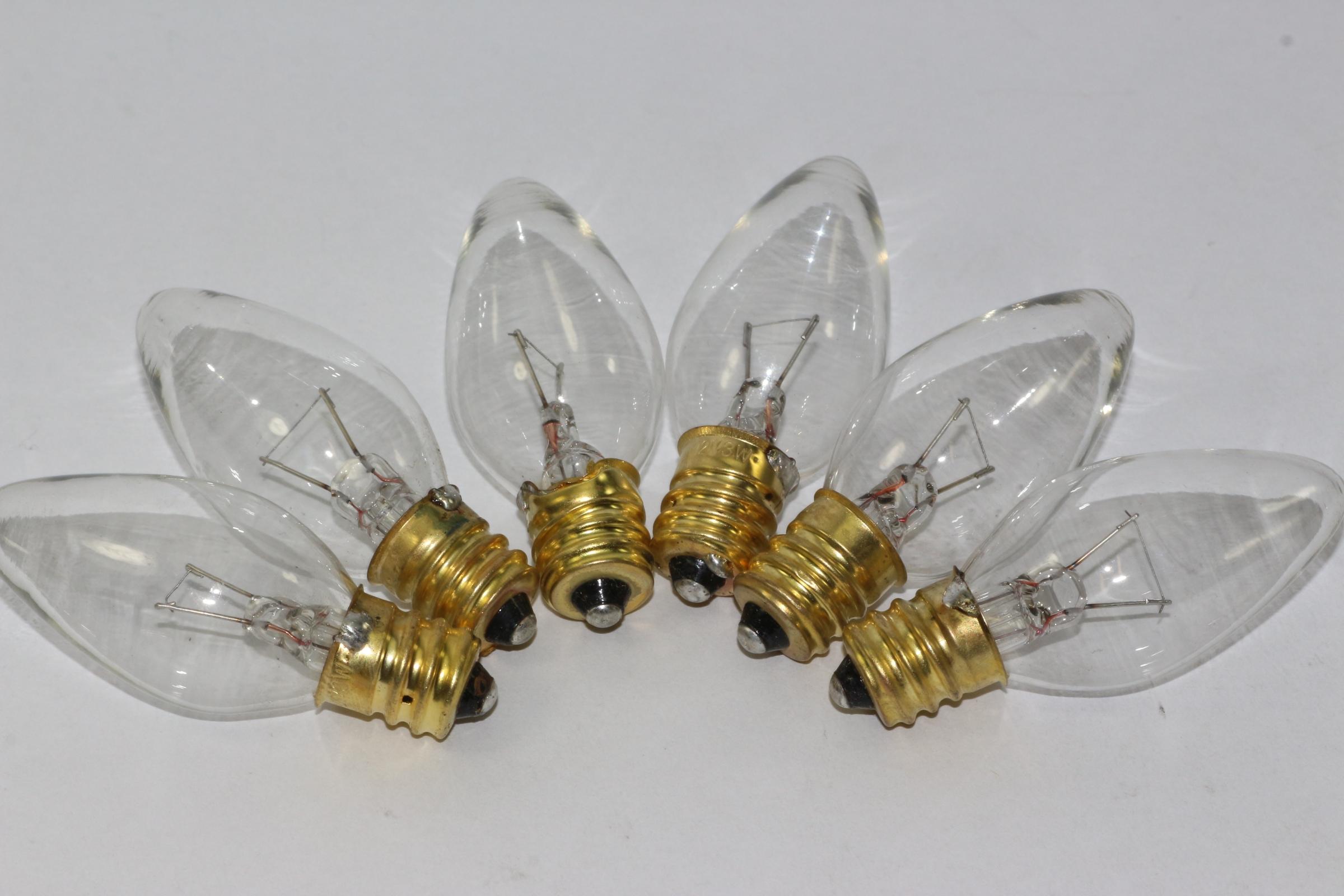 Ersatzglühbirnen Für Weihnachtsbeleuchtung.Details Zu 6 X 12v 3w 0 25a E12 Klar Weihnachtsbeleuchtung Ersatz Glühbirnen Pifco Dencon